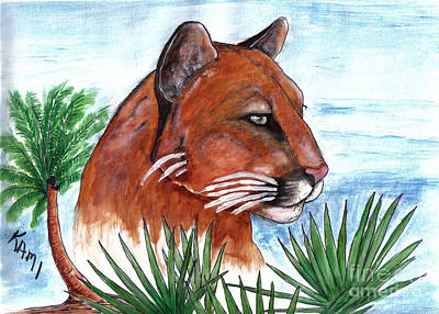 Painting - Florida Panther 2 by Kami Catherman