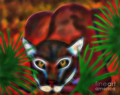 Painting - Florida Panther by D Hackett