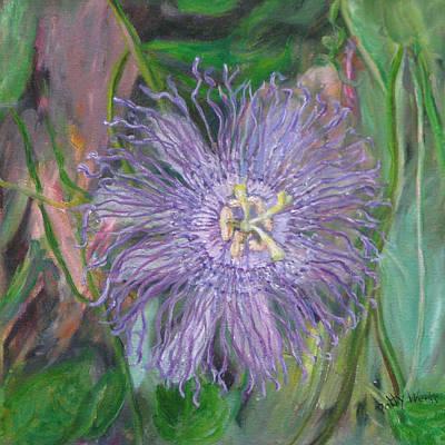 Florida Passion Flower Vine Print by Patty Weeks