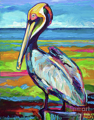Painting - Florida Pelican by Robert Phelps