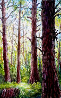 Painting - Florida Pine Forest by Sebastian Pierre