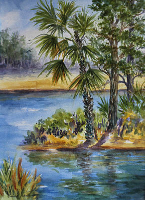 Painting - Florida Pine Inlet by Roxanne Tobaison
