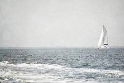 Photograph - Florida Rustic Sailboat Ocean Landscape by Andrea Hazel Ihlefeld
