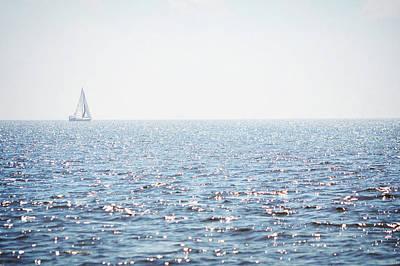 Photograph - Florida Sailboat Ocean Landscape by Andrea Hazel-Ihlefeld