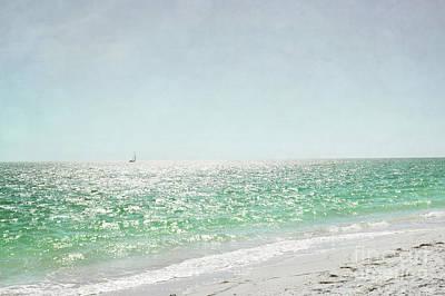 Photograph - Florida Sailboat Tropical Ocean Landscape by Andrea Hazel Ihlefeld