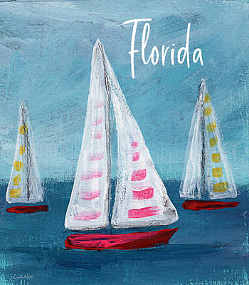 Mixed Media - Florida Sailing- Art By Linda Woods by Linda Woods