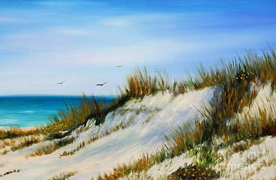 Seagrass Painting - Florida Sand Dunes  by Gabriela Valencia