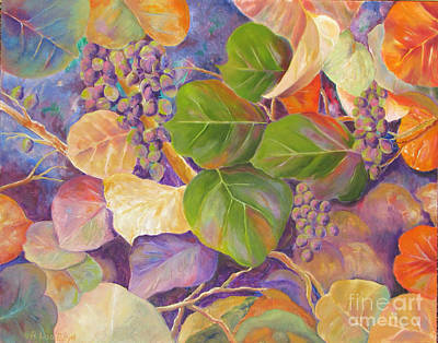 Painting - Florida Sea Grape Tree by Lisa Boyd