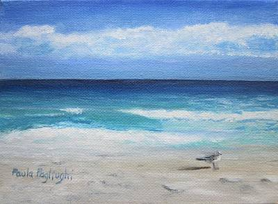Painting - Florida Seagull by Paula Pagliughi