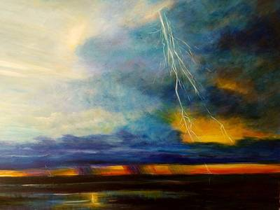 Punta Gorda Painting - Florida Seascape by Larry Palmer