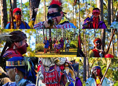 Photograph - Florida Seminole Indian Warriors Circa 1800s by David Lee Thompson
