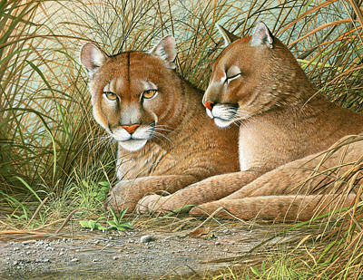 Painting - Florida Siblings by Mike Brown