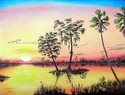 Lilly Pond Mixed Media - Florida Splendor by Riley Geddings