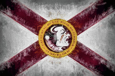 Digital Art - Florida State Flag by JC Findley