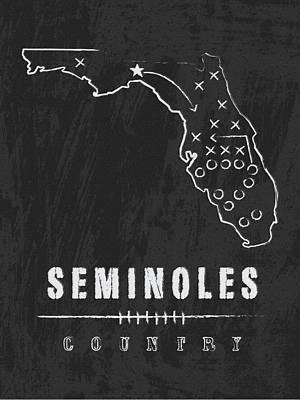 Florida State Seminoles / Ncaa College Football Art / Tallahassee Art Print by Damon Gray