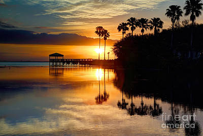 Florida Sunrise Art Print by Rick Mann