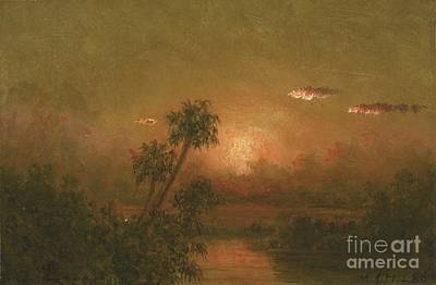 Trees Painting - Florida Sunset by MotionAge Designs