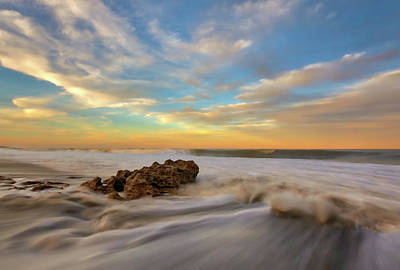 Photograph - Florida Sunset Seascape Photography From Coral Reef Park by Juergen Roth