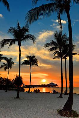 Art Print featuring the photograph Florida Keys Sunset by Stephen  Vecchiotti