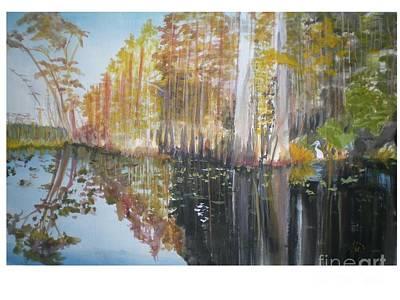 Florida Swamp Art Print by Hal Newhouser