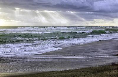 Florida Treasure Coast Beach Storm Waves Art Print