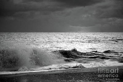 Photograph - Florida Wave Bw by Tannis Baldwin