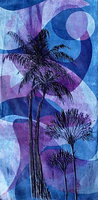 Printmaking Mixed Media - Florida Waves by Arthur Deaville