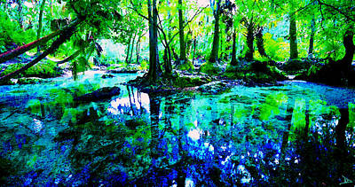 Painting - Florida's Fountain Of Youth by David Lee Thompson