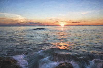 Shore Digital Art - Florida's Last Moment II by Jon Glaser