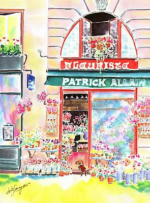 Painting - Florist In Ile St.louis by Hisayo Ohta
