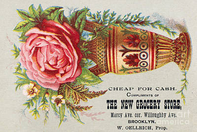 Florist Trade Card, C1890 Art Print by Granger