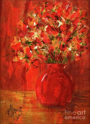 Painting - Florists Red by PJ Lewis