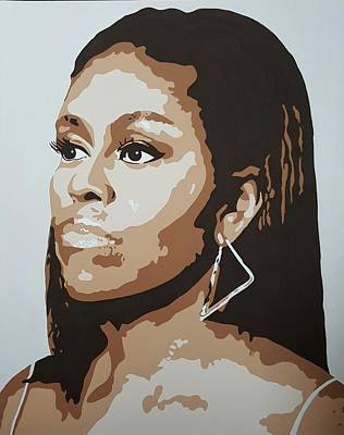 First Lady Michelle Painting - Flotus by Ida Yvette Robles