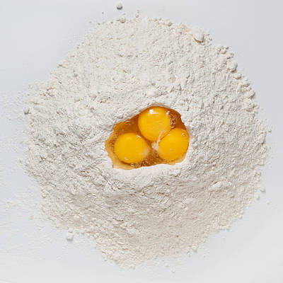 Flour Photograph - Flour And Eggs by Steve Gadomski
