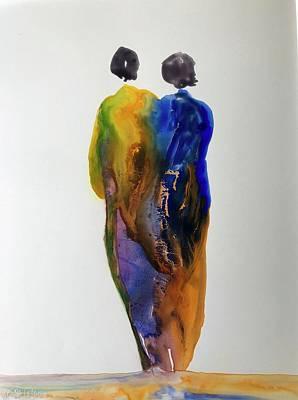 Wall Art - Painting - Flow 17 In Series by Debra LePage
