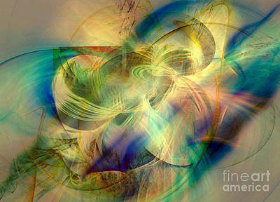 Digital Art - Flow 3 by Helene Kippert