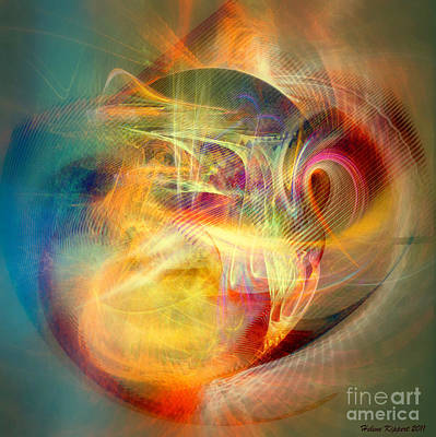 Digital Art - Flow 7 by Helene Kippert