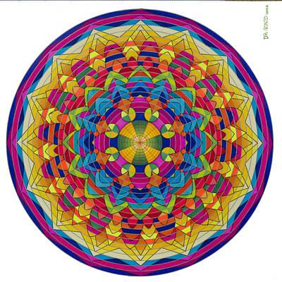 Fibonacci Series Painting - Flow II by Ernesto Barreiro