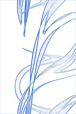 Digital Art - Flow by John WR Emmett
