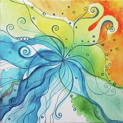 Colourfull Drawing - Flow by Karolina Cegielkowska