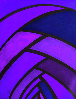 Flow, Purple Art Print