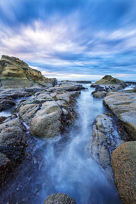 Tidal Photograph - Flow West by Robert Bynum