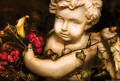 Flower - Rose - The Cherub  Art Print by Mike Savad