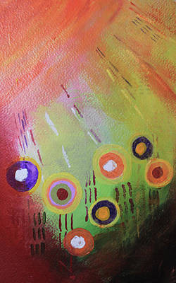 Mixed Media - Flower 1 Abstract by April Burton