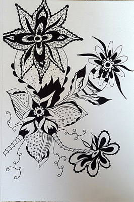 Drawing - Flower 1 by Steven Stutz