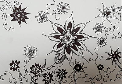 Drawing - Flower 10 by Steven Stutz