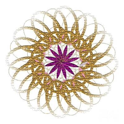 Wall Art - Digital Art - Flower 1017 - Abstract Art Print - Fantasy - Digital Art - Fine Art Print - Flower Print by Ron Labryzz