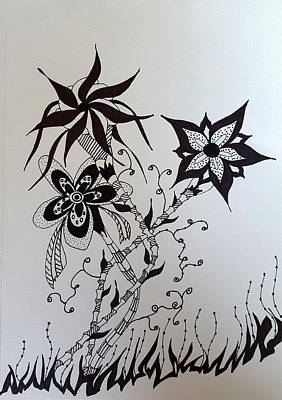 Drawing - Flower 2 by Steven Stutz