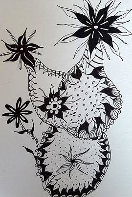 Drawing - Flower 6 by Steven Stutz
