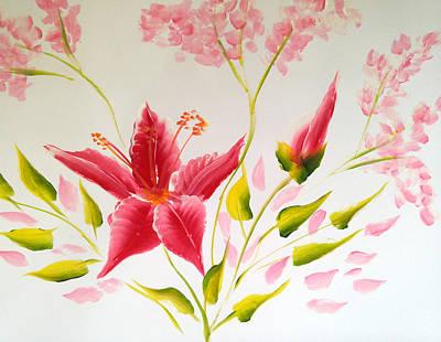 Petals Painting - Flower 7 by Jennilyn Villamer Vibar